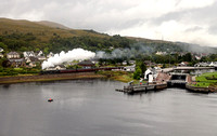 44871 departs Corpach with the Jacobite. Just Shame about the weather!!