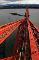 From the top of the  Forth Bridge a 170 heads underneath on 5.9.12.