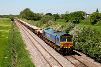 66623 passes Barrow upon Trent with a stone service from Bardon Hill on 25.5.12.