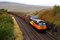 Colas 56094 heads 6J37 past Ribblehead on 1.10.12.