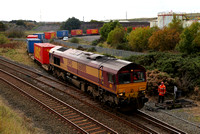 66008 departs from Workington Docks on 26.10.12.