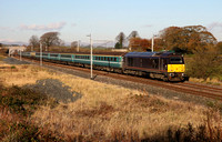 67006 passes Elmsfield on 5.11.12 with a Inverness to Crewe ECS.