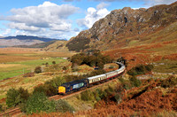 37601 heads for Arisaig with the ECS from  the Autumn West Highlander tour.