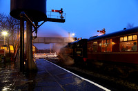 80080 pauses at Ramsbottom on 20.12.12 during the ELR Santa Specials.