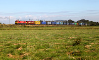 90029 & 90035 head past Bolton Le Sands with 4M25 on 17.9.15.