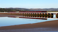 47851 & 47802 head over Arnside viaduct with The Cumbrian Lakelander from Kidderminster to Carlisle.