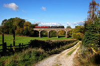 46115 heads over Capernwray viaduct during a test run on 14.10.15.