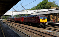 47237 passes Lancaster on 7.7.13 with the GB tour of the Royal Scotsman heading to Chester.