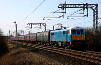 86259 passes Hest Bank with the CME on 18.2.12. 44932 & 45305 took over at Carnforth for Carlisle.