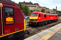 Old and New liveries at Edinburgh Waverley with 90036 & 67020 in between sleeper duties on 12.9.13