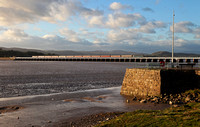 57313 & 57601 heads over Arnside viaduct on 9.10.13 with a Carlisle to St Neots tour.