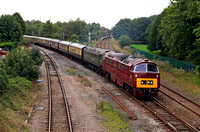 D1015 heads away from Lostock Hall with Vintage trains Tyseley - Carlisle Cumbrian Explorer