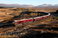 66746 heads away from Rannoch with the 'Western Journey' Royal Scotsman on 5.5.17.