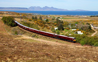 The Belmond Royal Scotsman heads past Kinloid heading for Mallaig on 6.5.17.