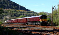 66743 heads away from Fort William with 'The Western Journey' Royal Scotsman.