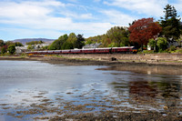 66746 passes Corpach as it heads back to Fort William with the Royal Scotsman.