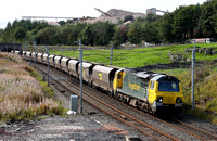 70005 heads past Shap Beck on 15.9.11 with 4S41 Fiddlers Ferry to Hunterston.