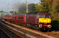 47804 heads past Hest Bank on 1.9.11 with the ECS for tomorrows 'Scarborough Flyer' from Crewe.
