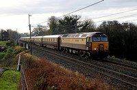 57305 passes Bay Horse on 11.11.17 with a Warrington to Edinburgh Northern Belle.