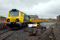 70004 waits at Shap Summit Quarry for its train to be loaded on 15.4.11