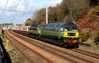 D1935 & D1944 pass Hest Bank on 25.3.18 with a Loco Services private charter from Kinguisse to Crewe