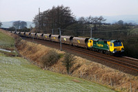 70014 heads 4S41 past Beck Houses on 3.2.12