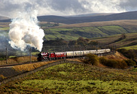 45699 heads up Shap at Greenholme on 9.11.13 with Vintage trains 'Cumbrian Jubilee' to Carlisle.