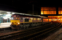 66188 waits for its crew change at Carlisle whilst working 6E68 New Cumnock to Drax on 1.12.11