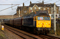 47237 & 57001 arrive back at Carnforth with the 'Royal Scotsman' for winter maintenance at WCRC.