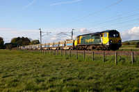 70002 returns with 6K27 Carlisle to Crewe at Brock on 16.5.12