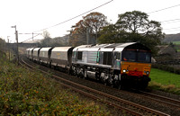 Ex DRS 66419 passes  Burton with 4S42 on 1.11.11. 66419 now working for freightliner.