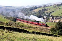 5690 heads past Diggle with the cotton mills Exp