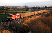 90036 heads past Elmsfield with 6S02 Warrington to Shieldmuir extra xmas mail.
