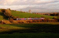A Leeds to Lancaster service passes Arkholme on 12.11.13.