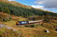 37612 heads away from Glenfinnan with the Autumn West Highlander tour to Mallaig on 1.10.16.