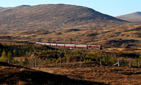 66746 & 66743 head towards Corrour with the Royal Scotsman.