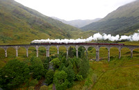 44871 heads over Glenfinnian viaduct heading for Mallaig.