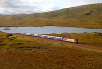 67009 heads over Rannoch moor on 5.9.12 with the Fort William bound sleeper service.