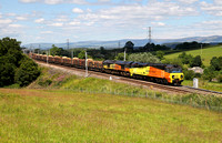 70802 & 66847 head pass Great Strickland with 6J37 on 10.7.14, the first trial of a class 70.