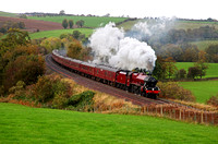 45699 heads away from Armathwaite on 23.10.13.