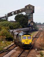 66953 departs from Hatfield Colliery with a working to Drax on 30.7.14.