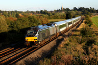68015 passes Kings Sutton with 1G52 London Marylebone to Snow Hill on 8.9.16.